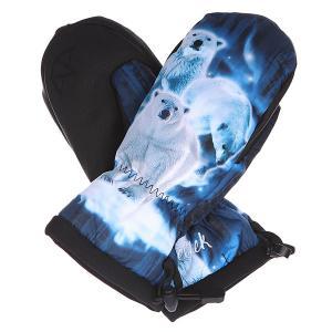 Варежки сноубордические женские женский  Gallery Mitten Nice Bear Celtek. Цвет: синий,белый,черный