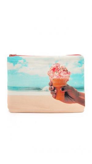 Клатч с изображением мороженого Samudra