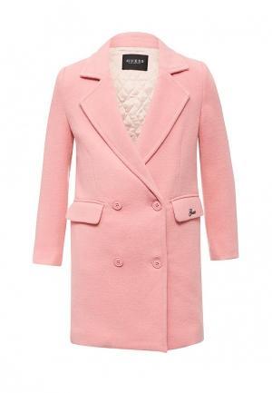 Пальто Guess. Цвет: розовый