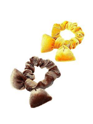 Резинка для волос (Комплект - 2 шт.) Migura. Цвет: желтый, коричневый