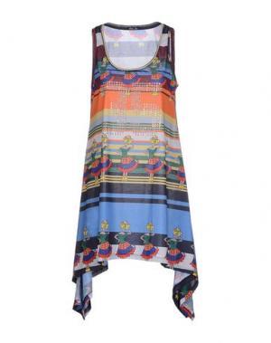 Короткое платье ODI ET AMO. Цвет: оранжевый
