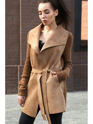 Пальто Sasha Rozhdestvenskaya. Цвет: коричневый