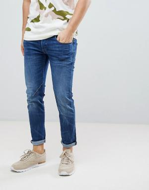 G-Star Узкие джинсы цвета индиго D-Staq. Цвет: синий
