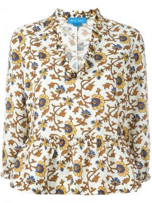 Блузка Miller Mih Jeans. Цвет: многоцветный