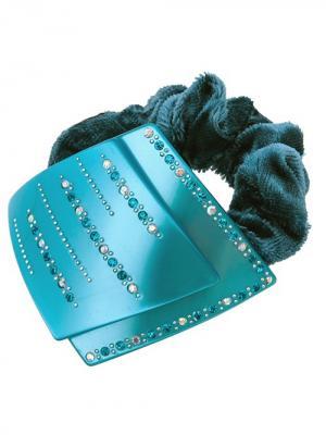 Резинка для волос City Flash. Цвет: бирюзовый, белый, голубой
