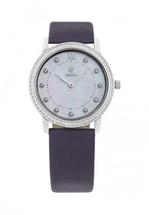 Часы Qwill. Цвет: фиолетовый
