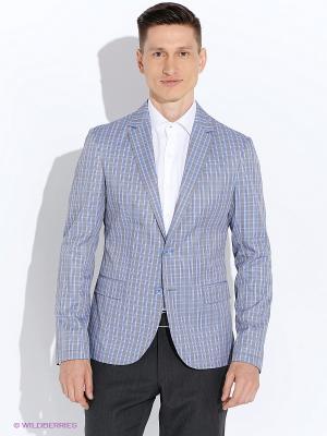 Пиджак BAZIONI. Цвет: голубой, серый