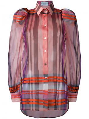 Клетчатая рубашка Daizy Shely. Цвет: красный
