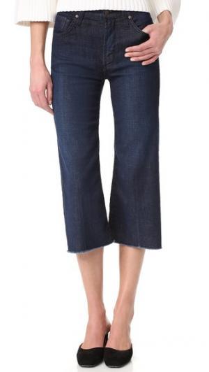 Джинсы Carlotta с высокой посадкой и бахромой внизу James Jeans. Цвет: голубой