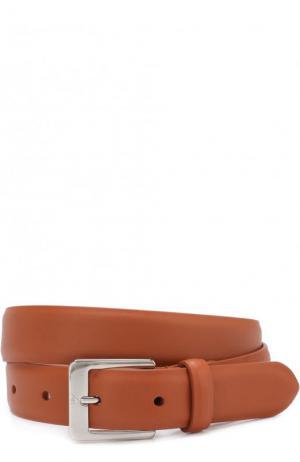 Кожаный ремень с металлической пряжкой Loro Piana. Цвет: коричневый