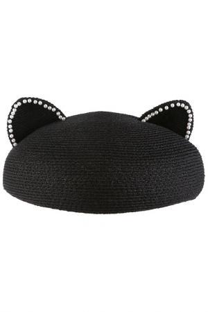 Шляпа Eugenia Kim. Цвет: black