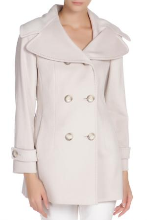 Полуприлегающее пальто с застежкой на пуговицы Cinzia Rocca. Цвет: серый
