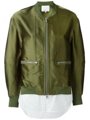 Куртка-бомбер 3.1 Phillip Lim. Цвет: зелёный