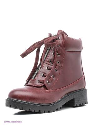 Ботинки Patrol. Цвет: темно-бордовый