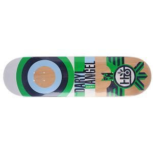 Дека для скейтборда  Su5 Angel Raptor Green 32.5 x 8.375 (21.3 см) Habitat. Цвет: бежевый,зеленый,черный,голубой