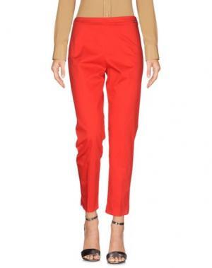 Повседневные брюки CARLA MONTANARINI. Цвет: красный