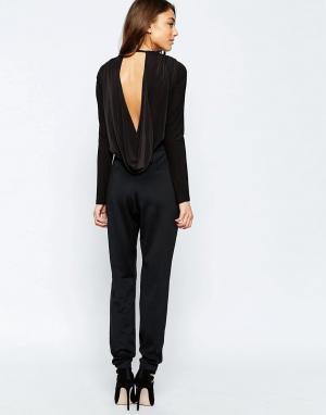 Hedonia Комбинезон с драпировкой сзади. Цвет: черный