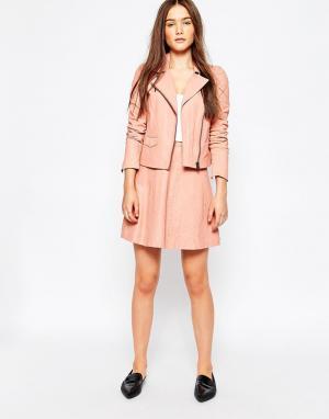 Muubaa Кожаная юбка Ligua. Цвет: розовый