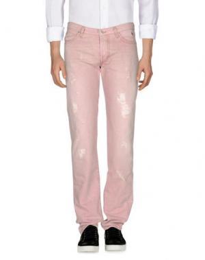 Джинсовые брюки ROŸ ROGER'S. Цвет: розовый
