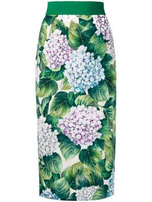 Юбка-карандаш Ortensia Dolce & Gabbana. Цвет: зелёный