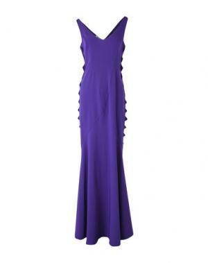 Длинное платье MOSCHINO CHEAP AND CHIC. Цвет: фиолетовый