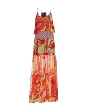 Длинное платье MARCO BOLOGNA. Цвет: оранжевый