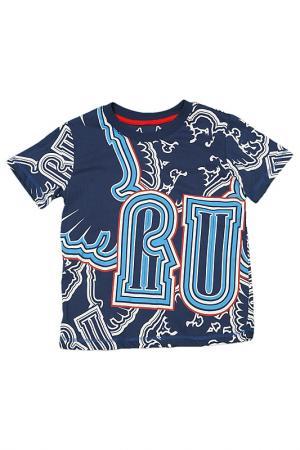 Футболка Россия. Цвет: синий