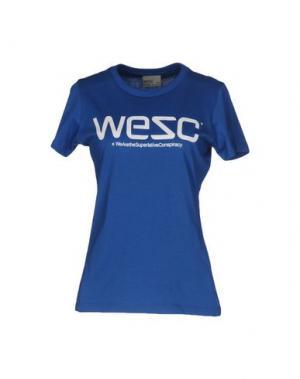 Футболка WESC. Цвет: синий