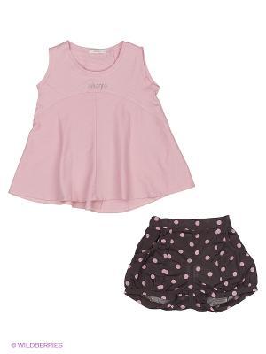Комплект для девочки PIKANTO. Цвет: коричневый, розовый