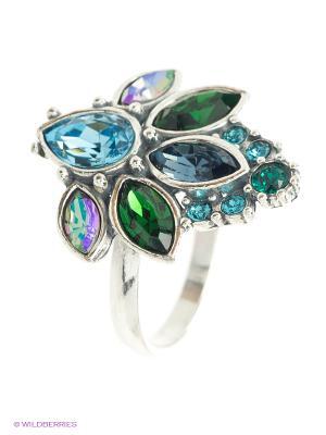 Кольцо Jenavi. Цвет: зеленый, голубой