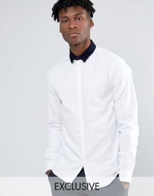 Noak Облегающая рубашка. Цвет: белый