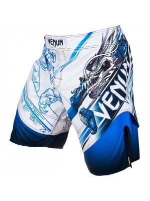 Шорты ММА Venum Lyoto Machida Tatsu King Fightshorts Ice/Blue. Цвет: белый, голубой