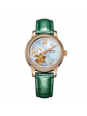 Часы LINCOR. Цвет: зеленый, серебристый