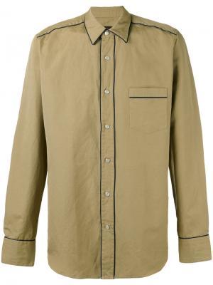 Рубашка в ковбойском стиле The Gigi. Цвет: телесный