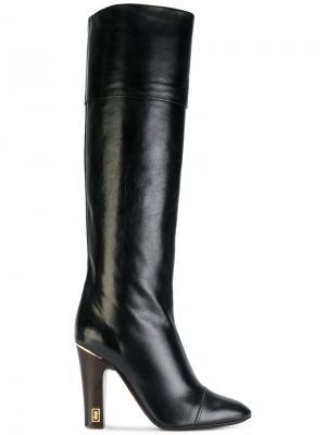 Высокие сапоги Anne Marc Jacobs. Цвет: чёрный