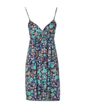 Короткое платье VERDISSIMA. Цвет: темно-синий
