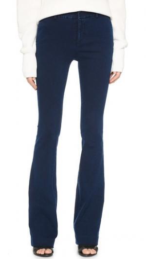 Узкие расклешенные джинсы Tess Giberson. Цвет: индиго с эффектом «варенки»