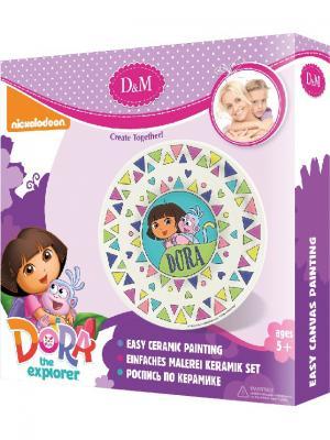 Набор для росписи тарелки Даша и Башмачок Делай с мамой. Цвет: фиолетовый