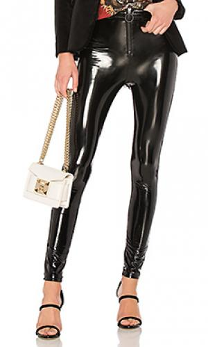 Виниловые брюки с высоким поясом 650 LPA. Цвет: черный