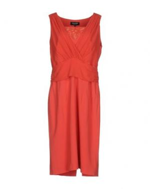 Платье до колена MARTA PALMIERI. Цвет: коралловый