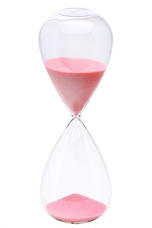Песочные часы на 60 минут Bitossi. Цвет: розовый