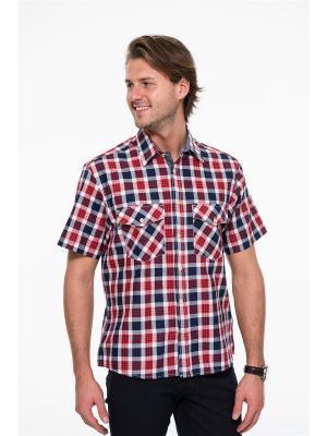 Рубашка Westrenger. Цвет: белый, синий