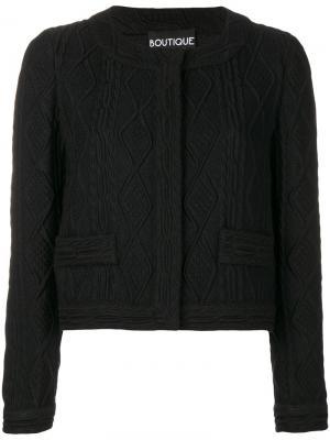 Укороченный фактурный пиджак Boutique Moschino. Цвет: чёрный