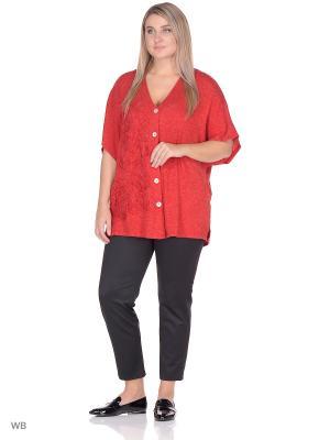 Блузка BERKLINE. Цвет: красный