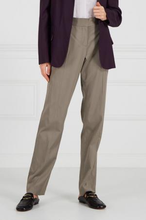 Однотонные брюки Vera Wang. Цвет: темно-серый