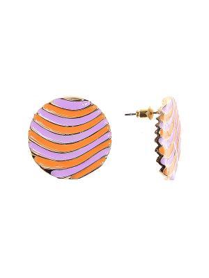 Серьги Olere. Цвет: оранжевый, золотистый, фиолетовый