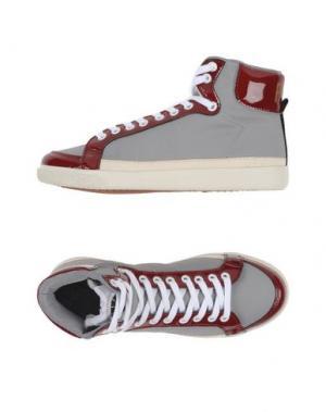 Высокие кеды и кроссовки PANTOFOLA D'ORO. Цвет: светло-серый
