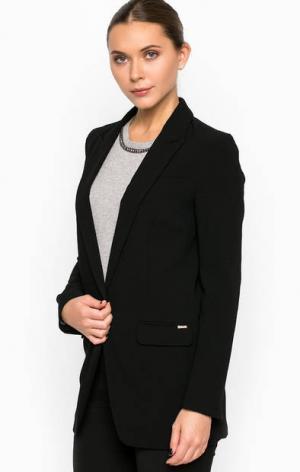 Классический пиджак удлиненного силуэта Cinque. Цвет: черный