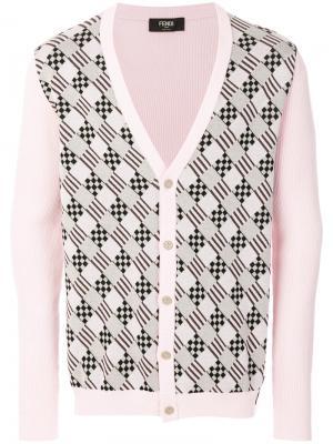 Buttoned cardigan Fendi. Цвет: розовый и фиолетовый