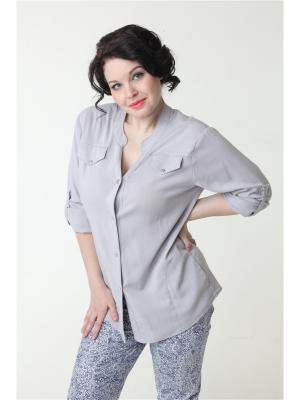 Блуза DizzyWay. Цвет: серый